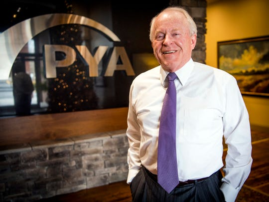 PYA founder Ed Pershing photographed at PYA's office in Knoxville on Friday, December 6, 2019.