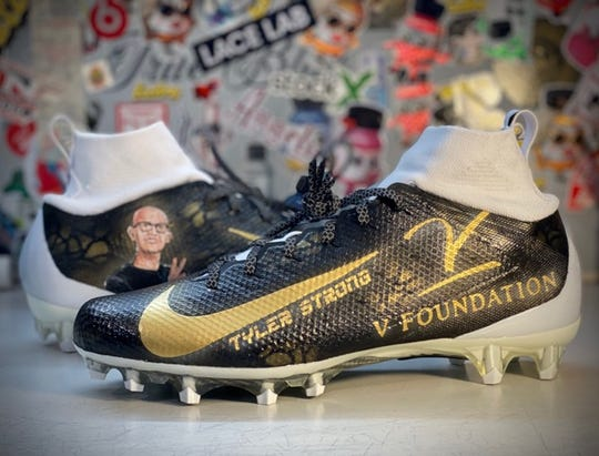 Former Purdue quarterback David Blough will support the V Foundation for Cancer Research and honor his late friend Tyler Trent by participating in the NFL's My Cause My Cleats program