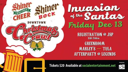 From a Santa-themed bar crawl to a family oriented Christmas farm, this holiday season has something for everyone. Invasion of the Santas Christmas Crawl returns to Downtown Lafayette on Dec.13. Dash down Jefferson Street, prancing from bar to bar while rudolph's red nose guides the party.