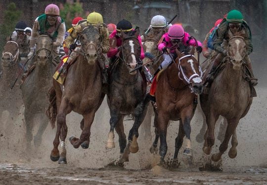 Horses collide the last turn of the Kentucky Derby leading to the disqualification of Maximum Security and the win for Country House.
