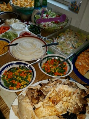 Lovina and family enjoyed an abundance of food on Thanksgiving as they gathered at sister Emma and Jacob's house.
