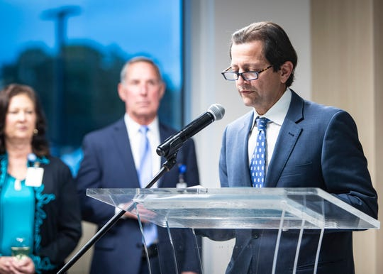 Fred Azar, an orthopedic surgeon and chief of staff at Campbell Clinic, speaks at the opening for the 120,000-square-foot physical therapy and orthopedic surgery center in Germantown on Dec. 5, 2019.