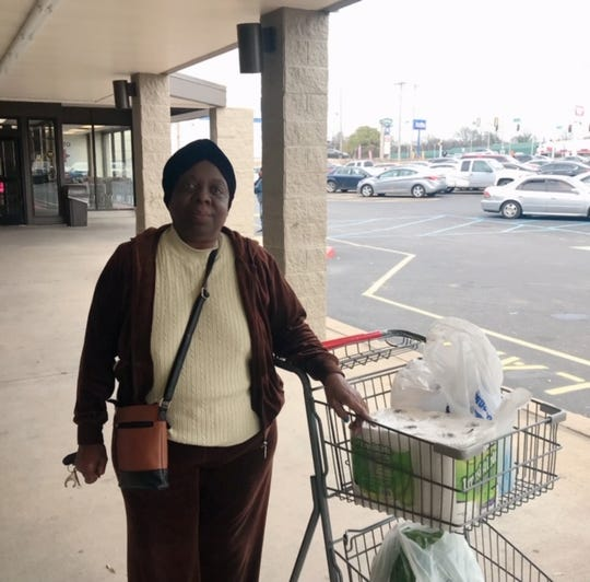 """Helen Holloway recently shopped at the Superlo supermarket that replaced the Kroger in Orange Mound. """"They needed a store here,"""" she said."""