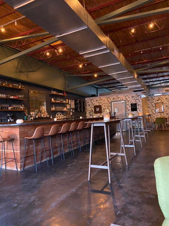 The bar at Knifebird in Midtown Memphis.
