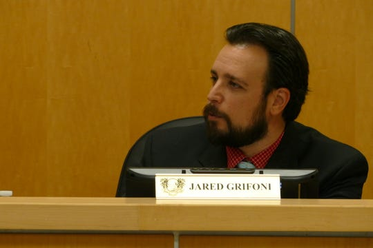 Jared Grifoni, vice-chair of the Marco Island City Council, said it is possible to increase fines for people who intentionally and knowingly harass or disturb owl burrows and use the money to fund the program in the future. In the picture, Grifoni speaks at a City Council meeting on Dec. 2.