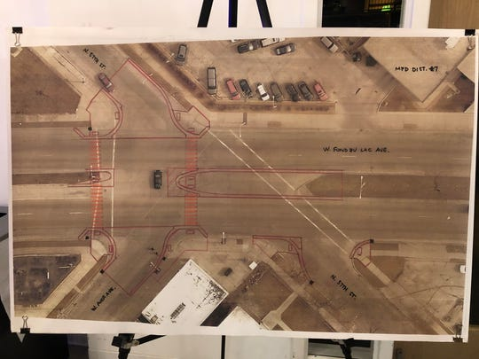 Proposed changes to West Fond du Lac Avenue at North 37th Street include extending medians to cut down on the number of risky turns drivers can make, and creating ramped curbs that comply with the Americans with Disabilities Act.