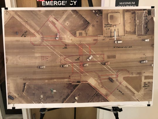 Proposed changes to West Fond du Lac Avenue at North 36th Street include extending medians to cut down on the number of risky turns drivers can make, and creating ramped curbs that comply with the Americans with Disabilities Act.