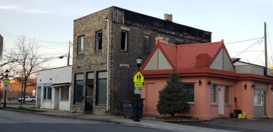 What remained of the downtown Waukesha building after an April 2019 , the second in two years, is pictured here shortly after the late-night blaze. It's the earlier fire, in March 2017, that has resulted in a federal indictment against the owner of a bar, Stage Off Main, for alleged arson and fraud. The building was more recently demolished by its new owner.