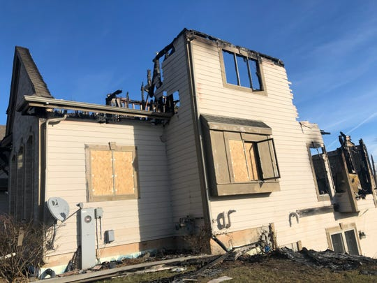 Fire destroyed a home in the 500 block of High Bluff Drive in Grafton on Dec. 4.