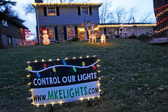 Anyone with a computer can control the holiday lights display at this Wauwatosa home. Try it out at visit mkelights.com.