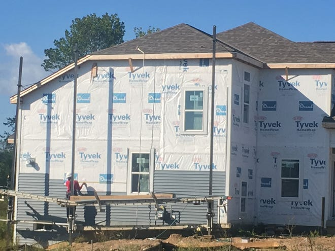 Home construction in Wisconsin is lagging last year's pace.