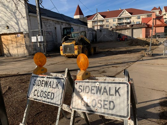 Crews regrade the property at 854 Martin St. on Dec. 6. The commercial building that stood there was demolished in November following a fire seven months earlier. Another fire, two years earlier in March 2017, became subject of a federal investigation resulting in arson and fraud charges against the previous owner.