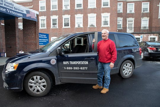 One of the Morris County's MAPS vehicles and driver Dave Dunlap.