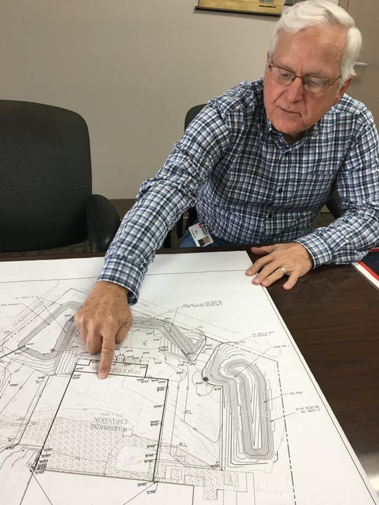 Group Vice President of Operations Bill Yeomans talks about an expansion plan at Hager Companies in Montgomery.