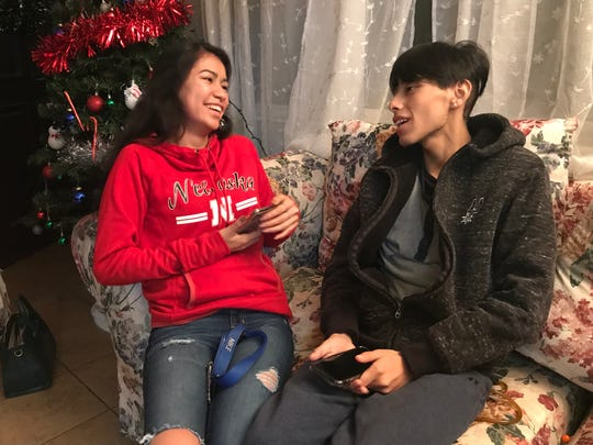 """Melissa Martinez and her cousin Josue Nandho, 16, who was diagnosed with liver cancer, enjoy hanging out because their """"personalities match."""""""
