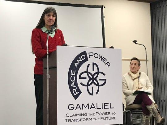 Nashville Councilwoman Burkeley Allen speaks at an event about racial disparities in school discipline Friday.