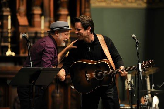 Dave Pomeroy, left, with Charles Esten during 'Nashville Unlimited Christmas'