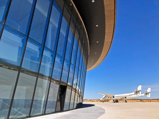 This year's Spaceport America Cup will not be held at Spaceport America, pictured here in this Aug. 15, 2019 file photo. Instead, teams will compete online in the virtual event. This is the second consecutive year the event has been disrupted by the COVID-19 pandemic.