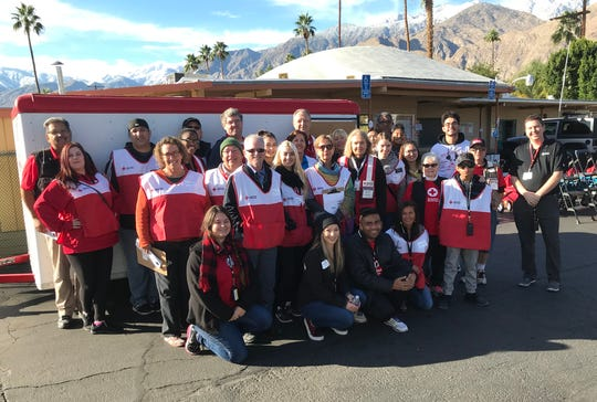 More than 40 volunteers donated their time at a Nov. 30 home fire safety event at Ramon Mobile Home Park in Palm Springs.