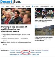 Chose your newsletter on desertsun.com