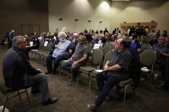 More than 300 people came to the Palm Springs Convention Center on Thursday evening to hear the Palm Springs City Council discuss the impacts associated with a sports and entertainment arena set for tribal-owned land in downtown Palm Springs.