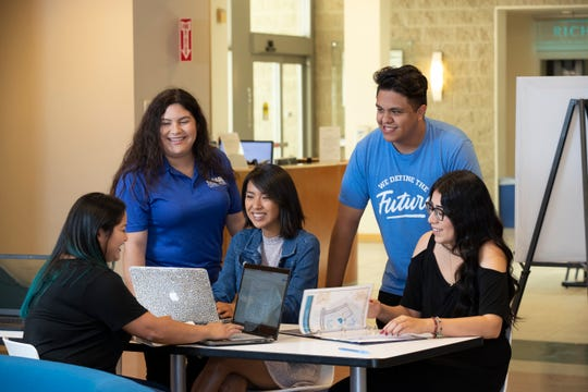 Students like Nadia Fuentes, Melissa Martinez, Pedro Saltipar and Estefania Nunez can apply for $1,500 grants to help them stay in school.
