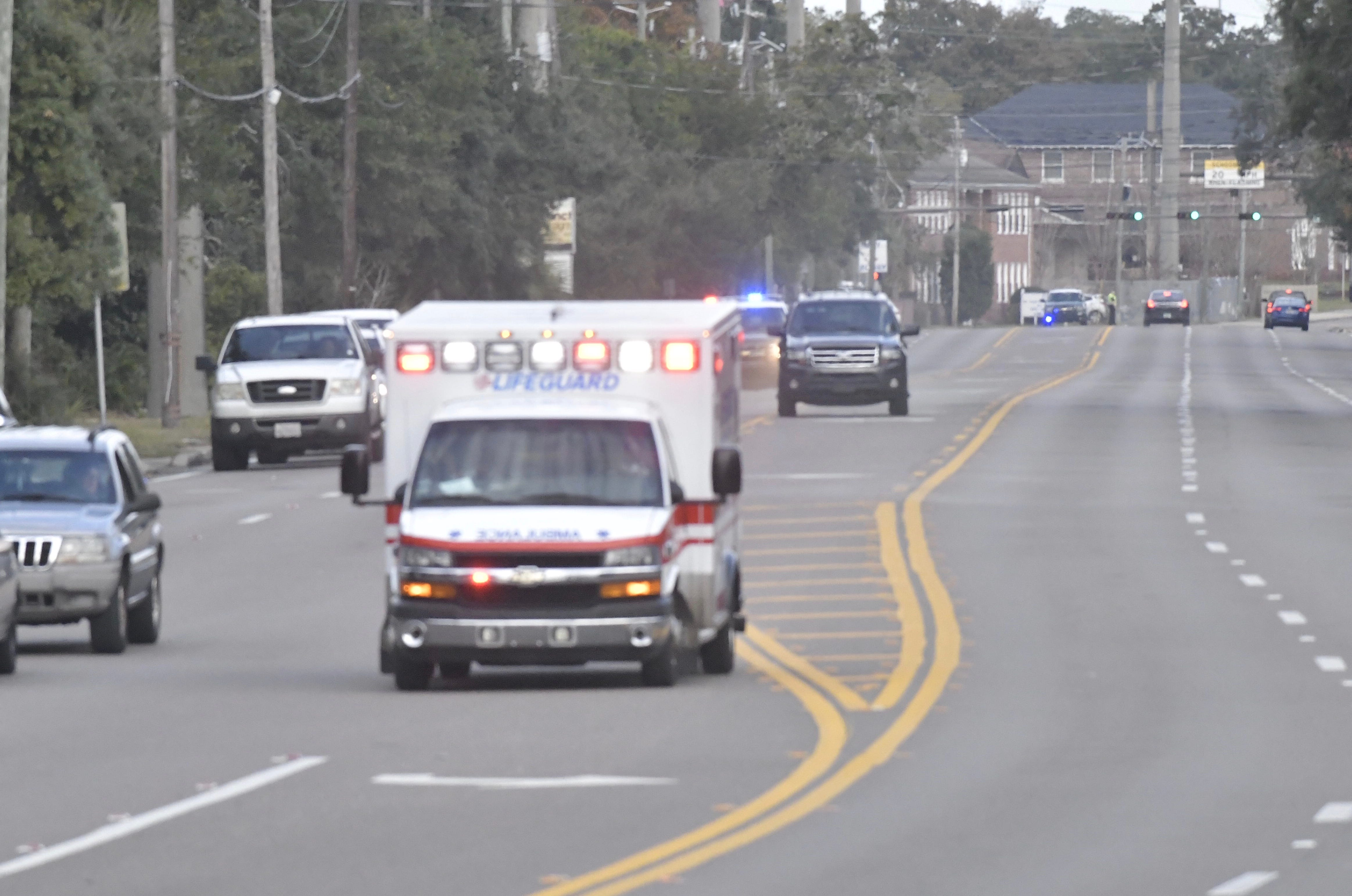 3 dead, including suspect, in shooting at Naval Air Station Pensacola in Florida; at least 11 hospitalized
