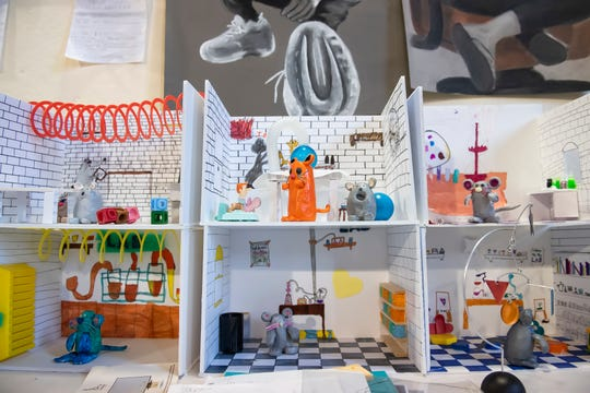 Children ages seven through 11 created dioramas through a STEAM program at the Little Art Bank.