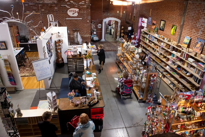 The Little Art Bank features a crafts store in the front (pictured) and classroom space in the back, and is dedicated to serving people of all ages interested in creating art.