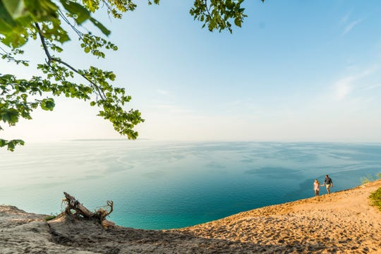 View of Lake Michigan from Traverse City, Michigan. Allegiant recently added twice a week service between Traverse City and Phoenix.