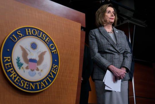 Nancy Pelosi, presidenta de la Cámara de Representantes.