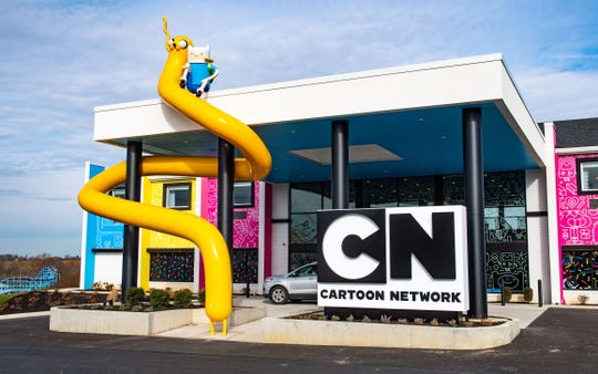 This is the sight that eager customers take in before entering the Cartoon Network Hotel in Lancaster, opening in January 2020.