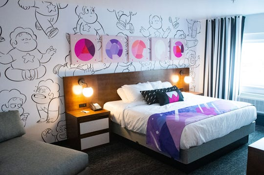 Every room in the Cartoon Network Hotel has a specific show theme, December 6, 2019.