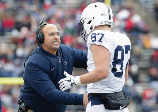 Penn State just landed another impressive tight end to join its 2020 recruiting class. The Lions have enjoyed a strong run of playmaking tight ends under coach James Franklin, including Pat Freiermuth (87). Canadian Theo Johnson is the latest.