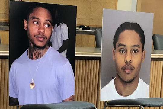 Anu-Malik Johnson, 21, is seen in these wanted posters in connection to a deadly shooting that happened at Regal West Manchester on Dec. 2, 2019.