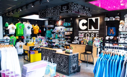 The Cartoon Network Hotel store is filled with your favorite cartoon characters.