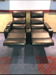 Display of the heated recliner seats that will be installed at the RC Theatres in York County.