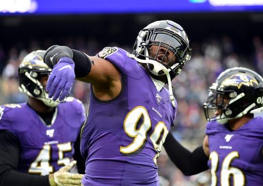 Baltimore linebacker Matthew Judon leads all Ravens defenders with seven sacks.