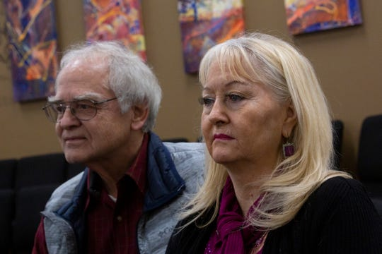 Gene Pfeifer and Fay DeMeyer pose for a portrait at the First Baptist Church in Salem on Dec. 5. The pair collaborated on the idea to turn the former Hillcrest youth correctional property into a residential program for the homeless.