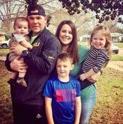 Undated photo of Det. Jacob Bergren and family.