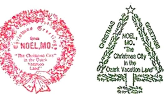 Each Christmas card that goes through the Noel, MO post office during the holiday season is stamped with a special postmark.