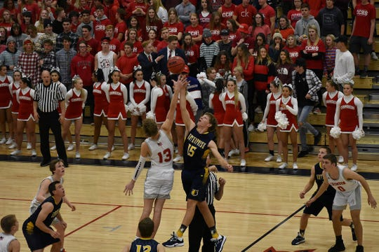 Crimson Cliffs tips off in its first-ever basketball game.