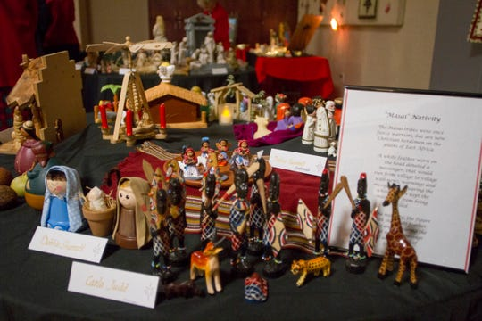 SunRiver residents display their Nativity sets from around the world at a local Latter-day Saint church Thursday, Dec. 5, 2019. The Nativities were part of the SunRiver Creche Celebration, which ran from Dec. 4-6.