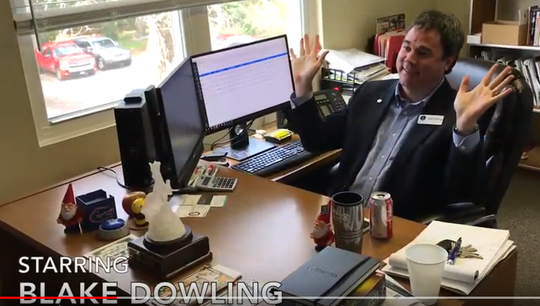 Our Office parody video starring Blake Dowling as Michael Scott of Dunder Mifflen.