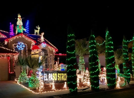 The Olguin family home in Horizon City is paying tribute to the victims of the Walmart shooting with its holiday display.