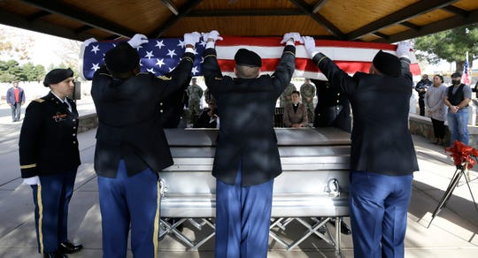 Former Sgt. 1st Class Cristobal Garcia was laid to rest Friday, Dec. 6, 2019, at  Fort Bliss National Cemetery. With few friends and no family in El Paso, friends put out a request for attendees at the Vietnam and Korean War veteran's funeral. About 40 El Pasoans answered the call.