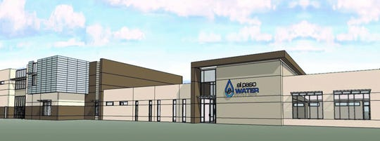 This rendering shows $19.7 million building El Paso Water officials plan to have constructed for the utility's water division and customer service operations at its Riverside Industrial Center in the Lower Valley.