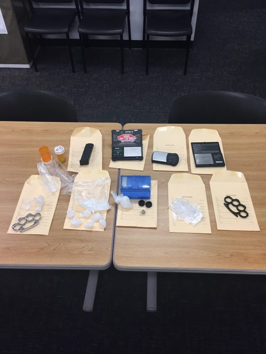 Narcotics and weapons seized during a search in Port Hueneme on Dec. 4.
