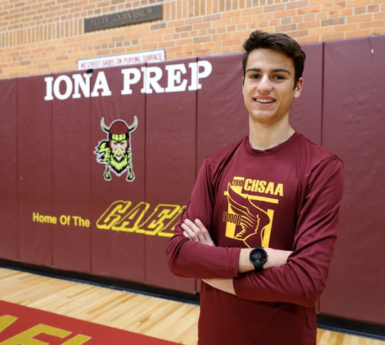 Iona Prep's Pedro Bravo is The Journal News/lohud Westchester/Putnam boys cross-country runner of the year. Here he is pictured at the school, Dec. 6, 2019.