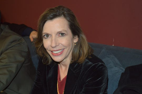 Evelyn Farkas, of Chappaqua, at the Greenburgh Democratic Committee meeting on Dec. 5, 2019 at the Ardsley Community Center.